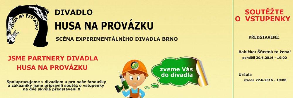 Soutěž o vstupenky do divadla HUSA NA PROVÁZKU v Brně