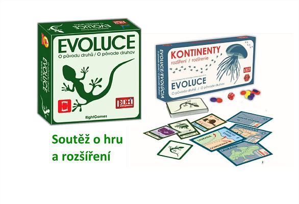 Soutěž o karetní hru Evoluce: O původu druhů a rozšíření Kontinenty