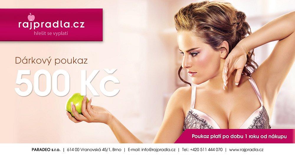 Soutěž o dárkový poukaz v hodnotě 500 Kč na nákup spodního prádla na www.rajpradla.cz