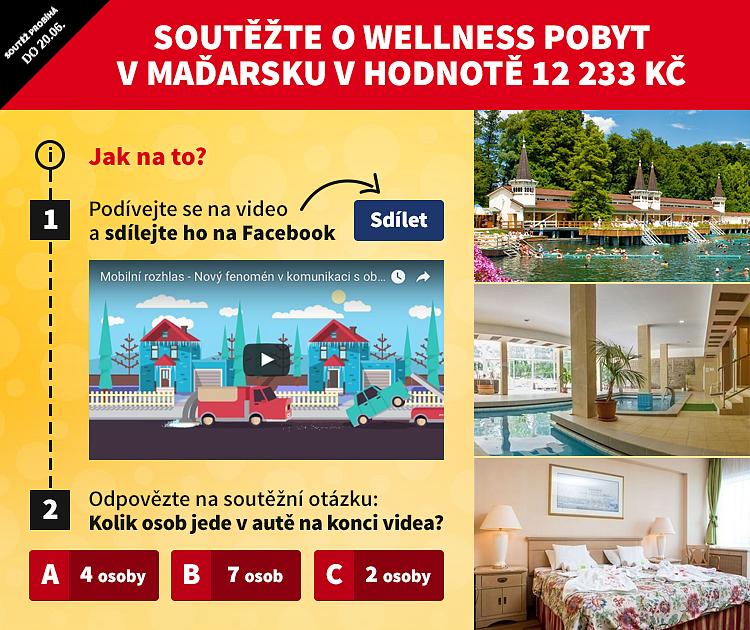 Nová soutěž o wellness pobyt pro DVA v Maďarsku za 12 233 Kč!