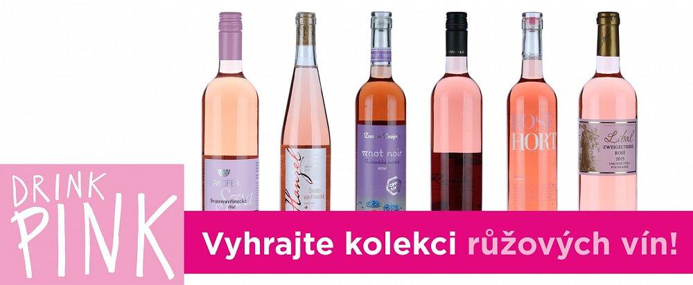 Soutěž o šest růžových vín