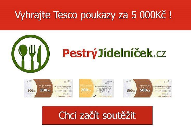 Vyhrajte Tesco poukazy za 5 000 Kč s PestryJidelnicek.cz