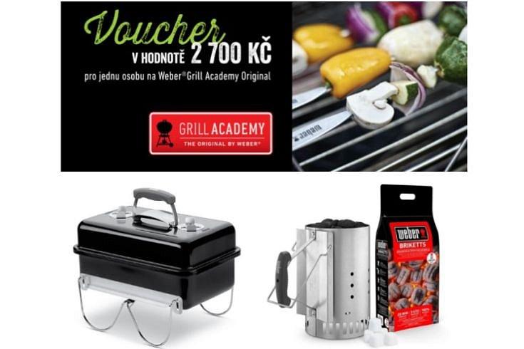 Soutěž o 2 vstupenky na Weber® Grill Academy Original, gril Weber Go Anywhere a zapalovací set