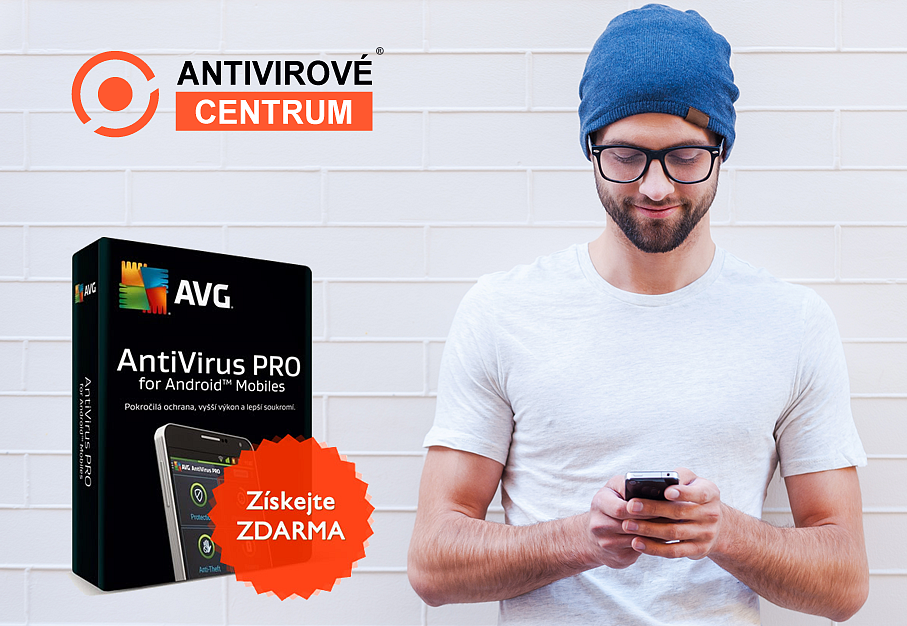 Software AVG Mobile Antivirus PRO - pro 1 PC na rok zdarma