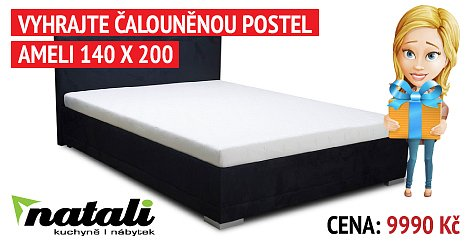 Soutěž o čalouněnou postel AMELI 140 x 200, včetně matrace a roštu