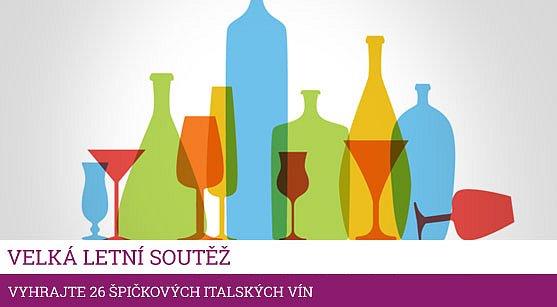 Velká letní soutěž o 26 lahví špičkových italských vín a další ceny