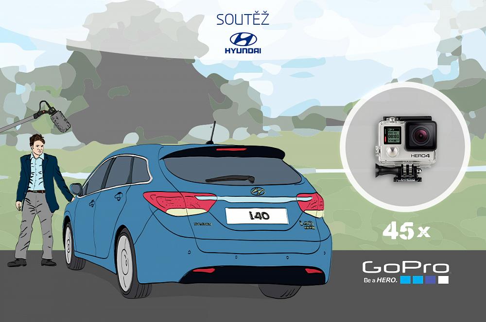Natočte Hyundai a vyhrajte 45x GoPro!
