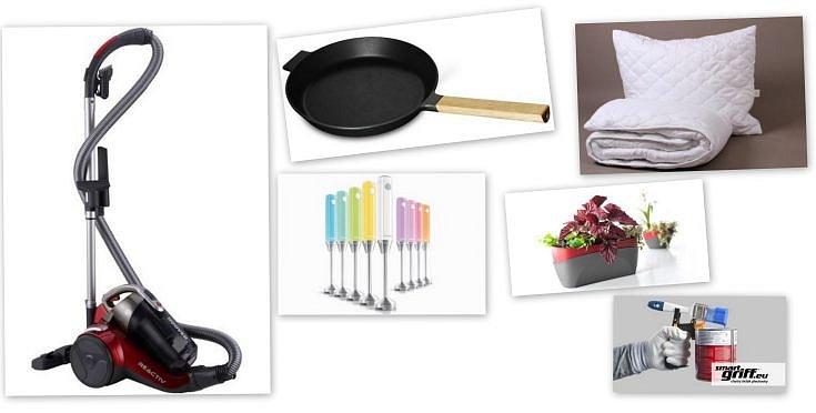 Soutěž o bezsáčkový vysavač, litinovou pánev, set přikrývky s polštářem, tyčový mixér, květináč DOPPIO a držák na plechovky