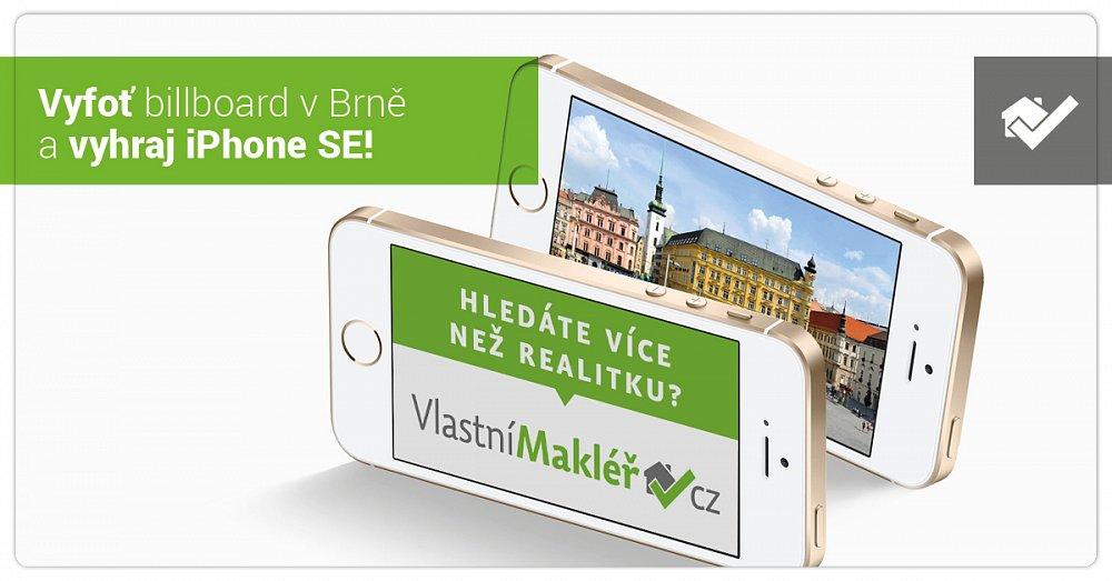 Vyfoť billboard v Brně a vyhraj iPhone SE