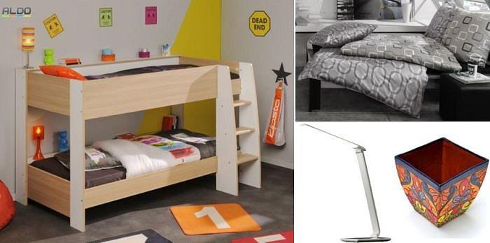 Soutěž o dětskou patrovou postel, luxusní set povlečení, stolní LED lampu a originální květináč