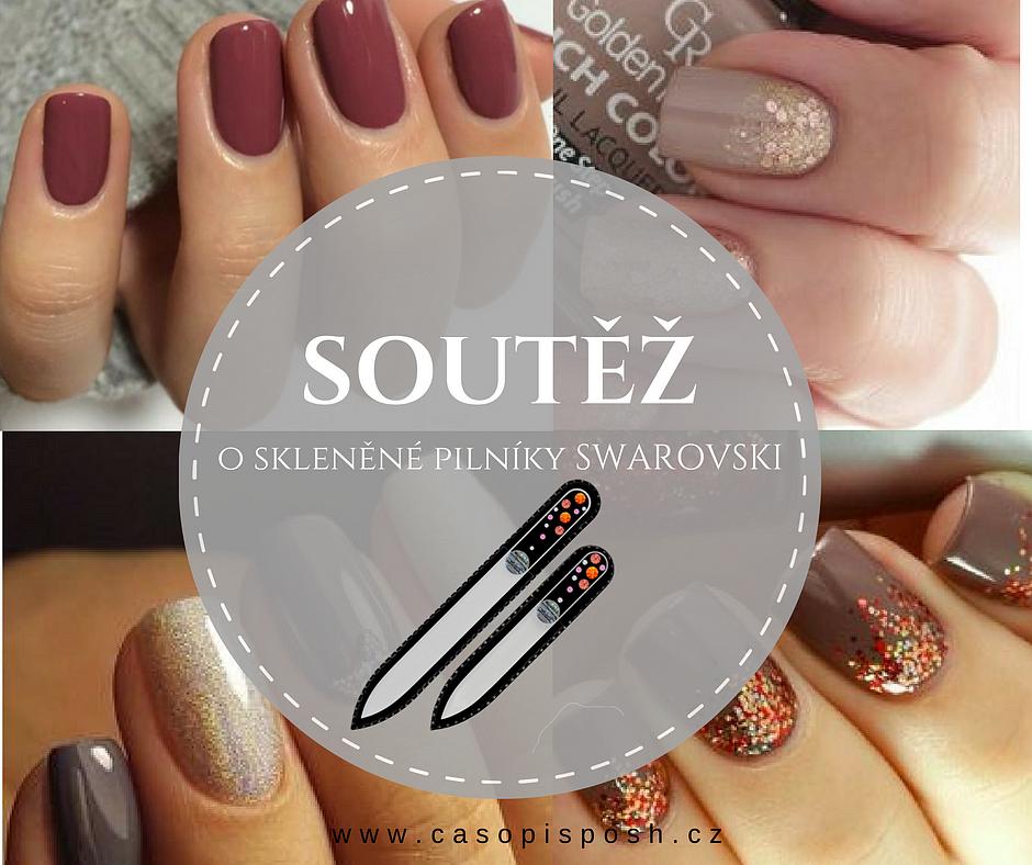 Vyhrajte pilník na nehty SWAROVSKI se svou fotkou podzimních nehtíků