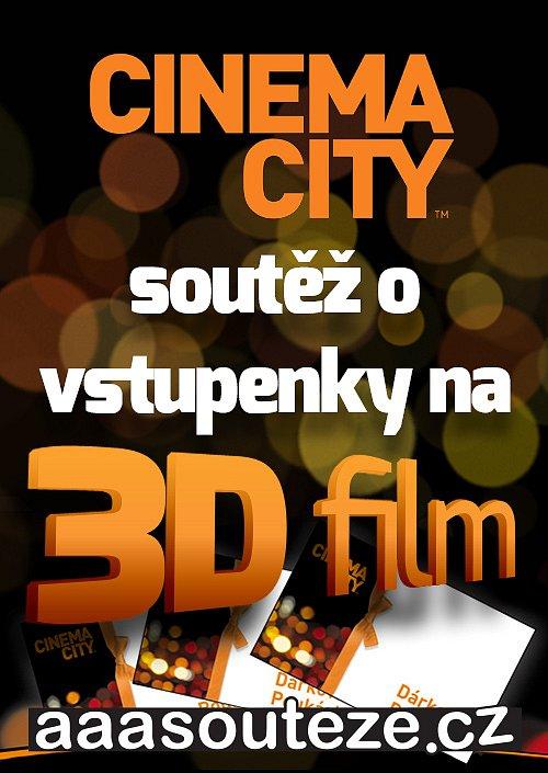 Vyhrajte 3D vstupenky do multikin Cinema City