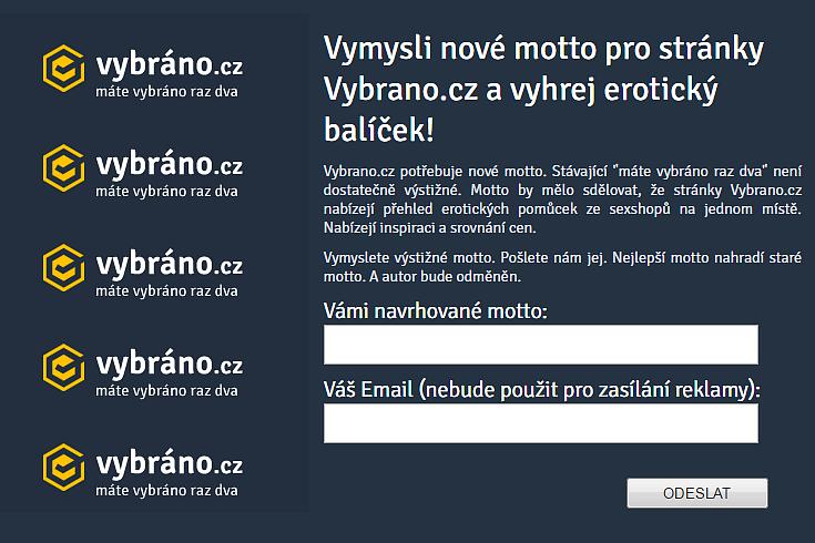 Vymysli nové motto pro Vybrano.cz