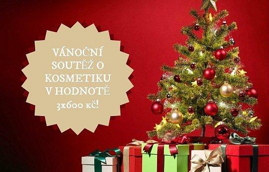 Vánoční soutěž o kosmetiku v hodnotě 3x600 Kč podle vlastního výběru!