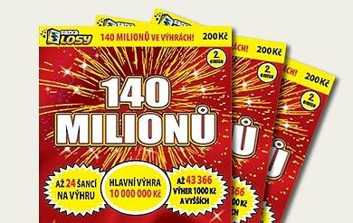 Soutěž o 10 losů - á 200,- Kč, s možností vyhrát 10 000 000,- Kč