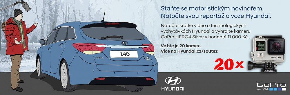 Staňte se motoristickým novinářem. Natočte svou reportáž o voze Hyundai a vyhrajte kameru GoPro!