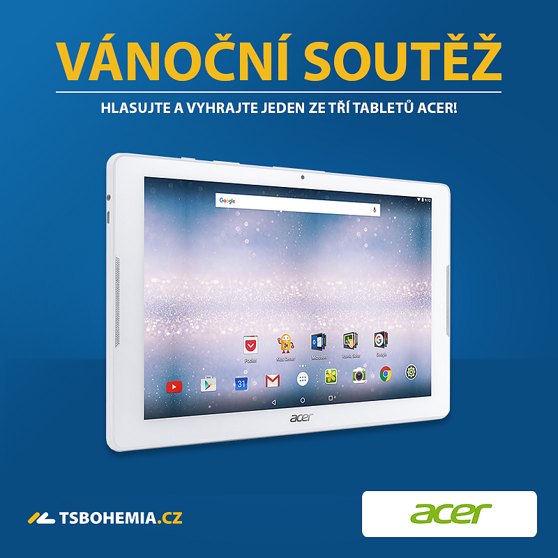 Vánoční soutěž o tablety Acer