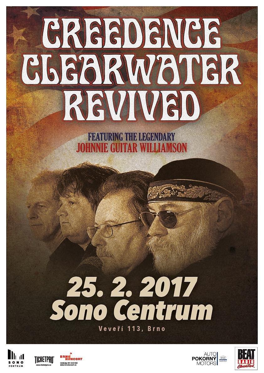 Soutěž o vstupenky na koncert Creedence Clearwater Revived