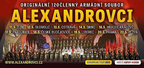 Soutěž o vstupenky na turné Alexandrovci 2017