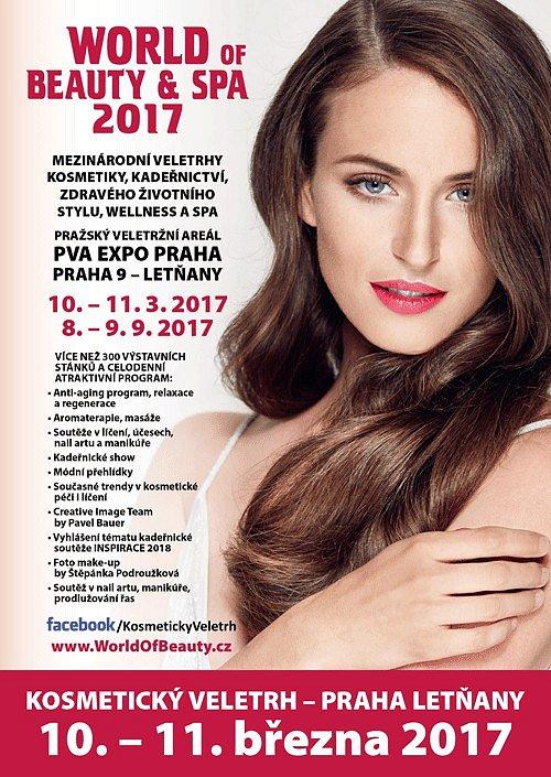 SOUTĚŽ o kosmetické balíčky a vstupenky na jarní veletrh WORLD OF BEAUTY & SPA - jaro 2017