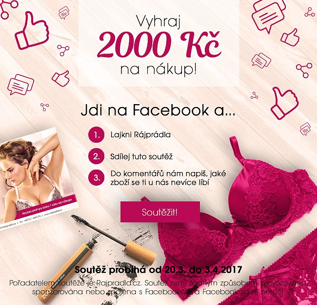 Vyhraj 2000 Kč na nákup na rapradla.cz!