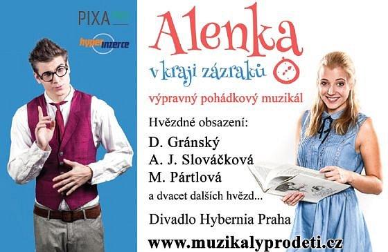Soutěž o vstupenky na pohádkový muzikál Alenka v kraji zázraků
