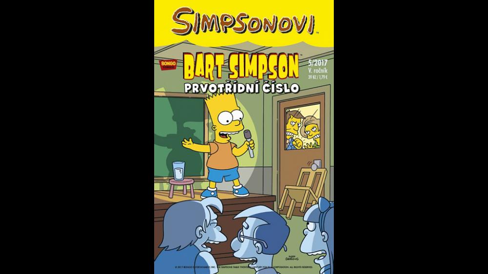 Soutěž o 3x komiksový magazín – Bart Simpson 5/2017: Prvotřídní číslo