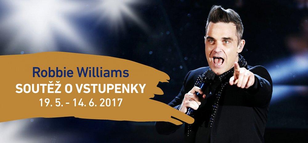 Za nákup v Olympii vyhrajete vstupenky na koncert Robbieho Williamse.