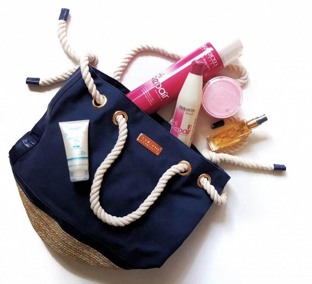 Soutěž o vlasovou kosmetiku Salerm a luxusní plážovou tašku