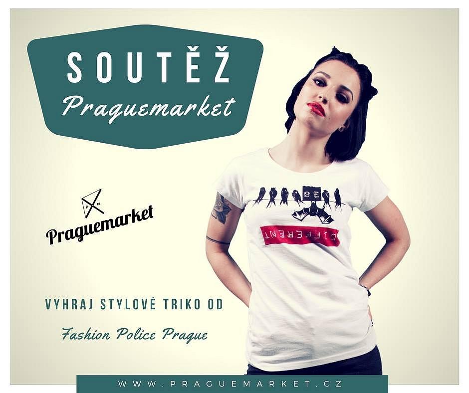 Soutěžte s Praguemarketem o stylové triko od Fashion Police Prague