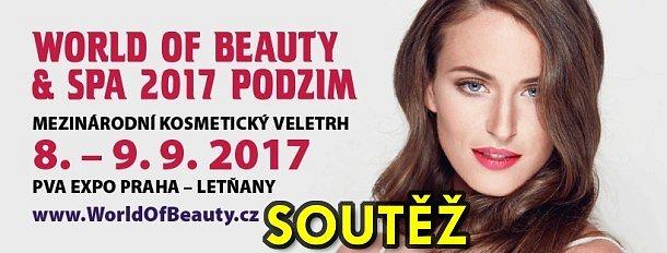 SOUTĚŽ o kosmetické balíčky a vstupenky na veletrh WORLD OF BEAUTY & SPA - podzim 2017