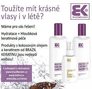 Soutěž o vlasovou kosmetiku s kokosovým a makadamiovým olejem od Brazil Keratin