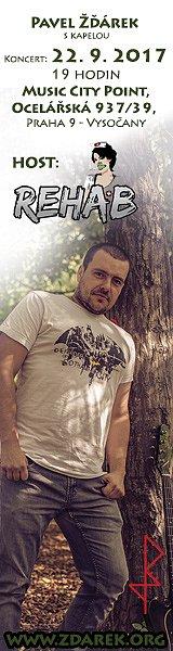 Soutěž o 2 vstupenky na koncert Pavel Žďárek s kapelou + host: REHAB