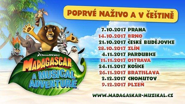 SOUTĚŽ o vstupenky na muzikál MADAGASKAR
