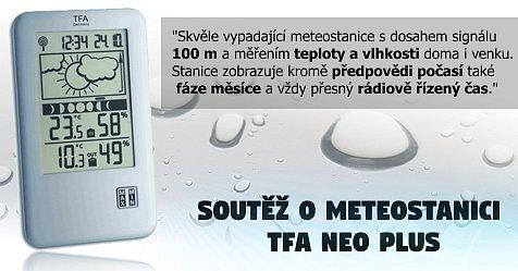 Soutěž o ozdobu každé domácnosti - meteostanici TFA NEO PLUS
