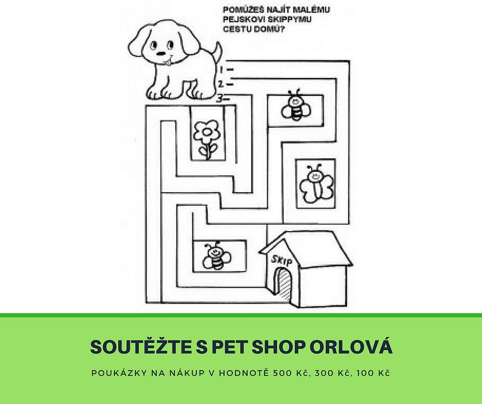 Právě teď můžete vyhrát poukázku na nákup v PET SHOP Orlová