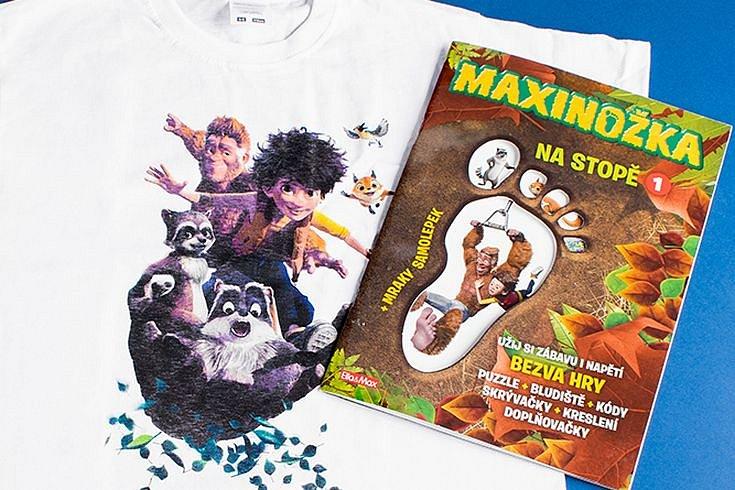 Vyhrajte 5 sešitů Maxinožka: Na stopě 1 a tričko pro děti