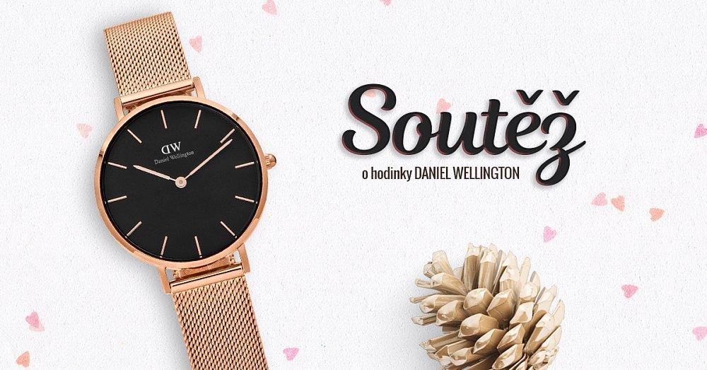 Vyhraj luxusní hodinky Daniel Wellington z růžového zlata!