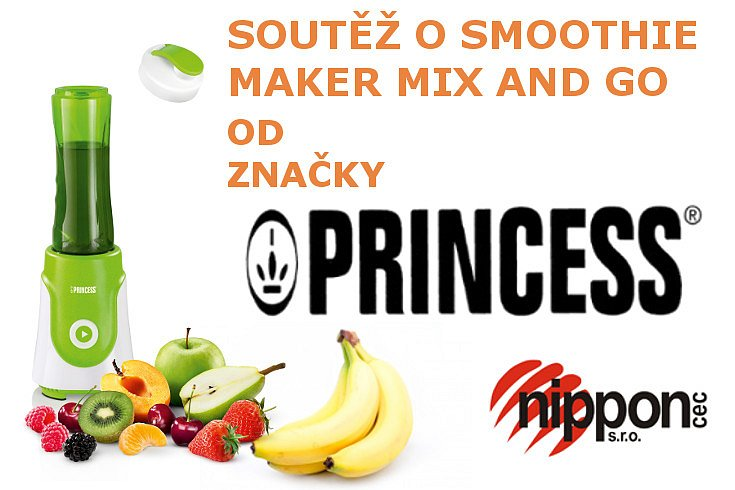 Soutěž o smoothie maker Princess 21 8000 Mix and Go zelený