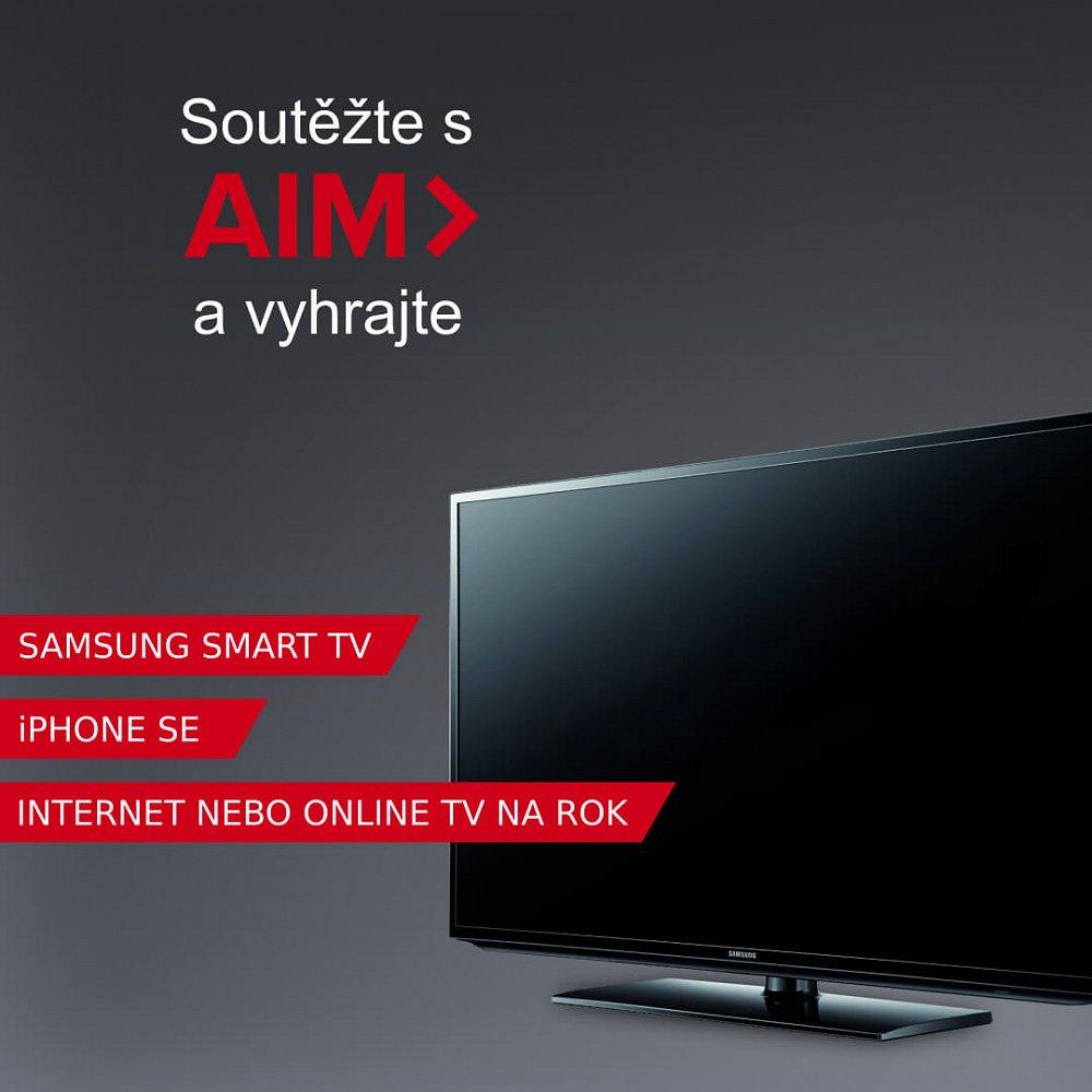 Velká soutěž s AIM o Samsung Smart TV, IPhone SE a internet zdarma