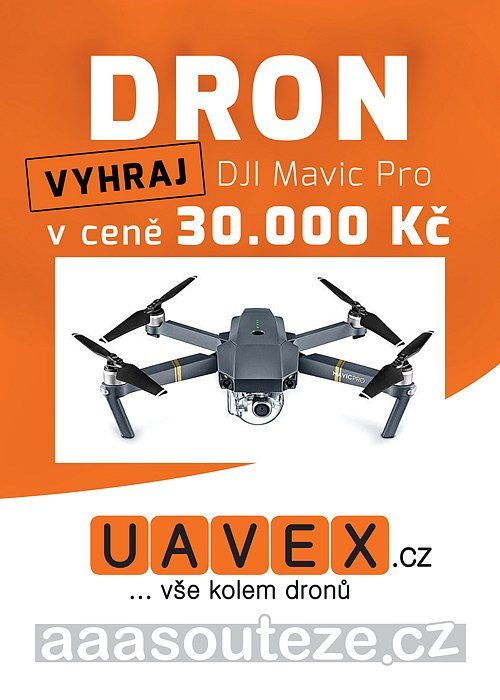 Vyhraj profesionální DRON DJI Mavic Pro v ceně 30.000 Kč