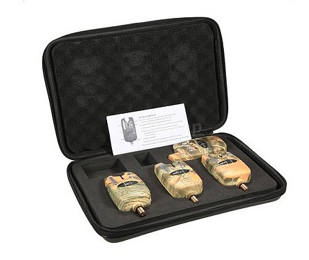 Sada hlásičů s příposlechem 3 + 1 v kufříku v khaki provedení