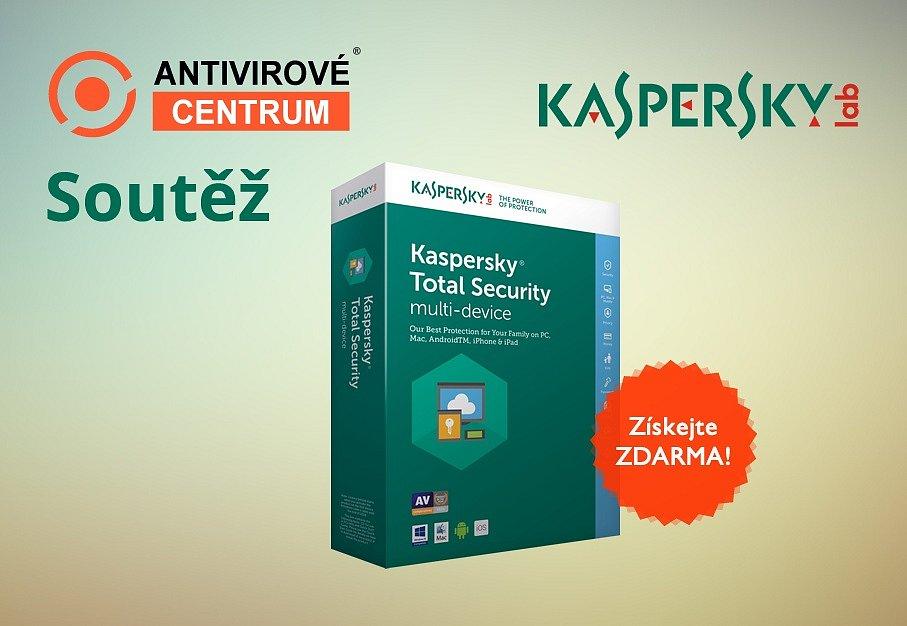 Nejnovější antivir Kaspersky Total Security pro 3 zařízení na 1 rok zdarma