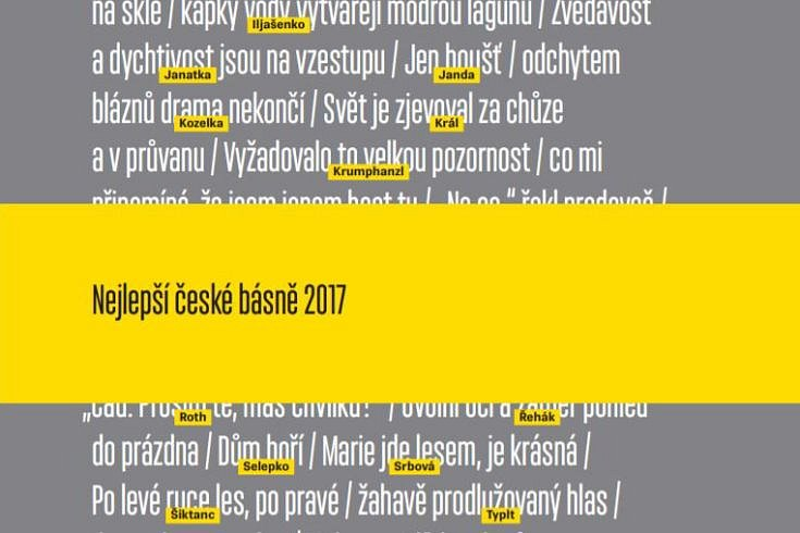 Vyhrajte dvě knihy Nejlepší české básně 2017