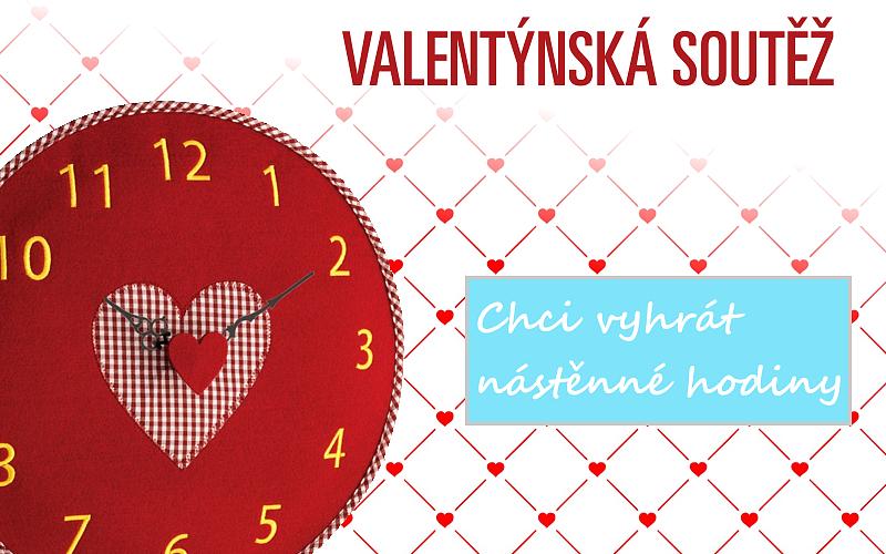 Soutěžte o 3 ks nástěnných hodin s motivem srdce!