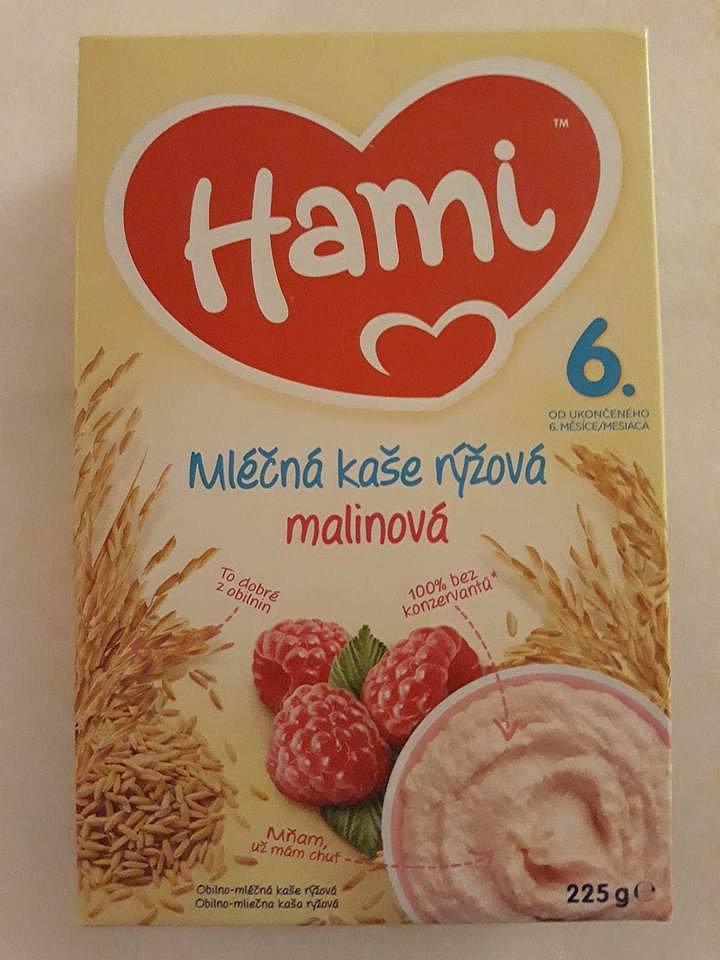 Soutěž o  Hami mléčná kaše rýžová malinová