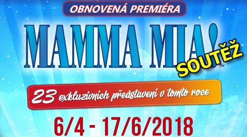 SOUTĚŽ o vstupenky na muzikál MAMMA MIA