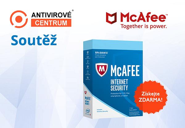 Velká šance získat McAfee Internet Security 2018 pro 1 PC na rok zdarma