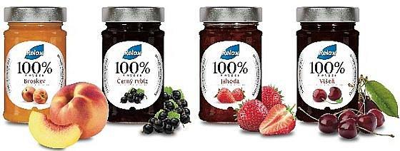 Soutěž o balíčky džemů Relax 100% z ovoce