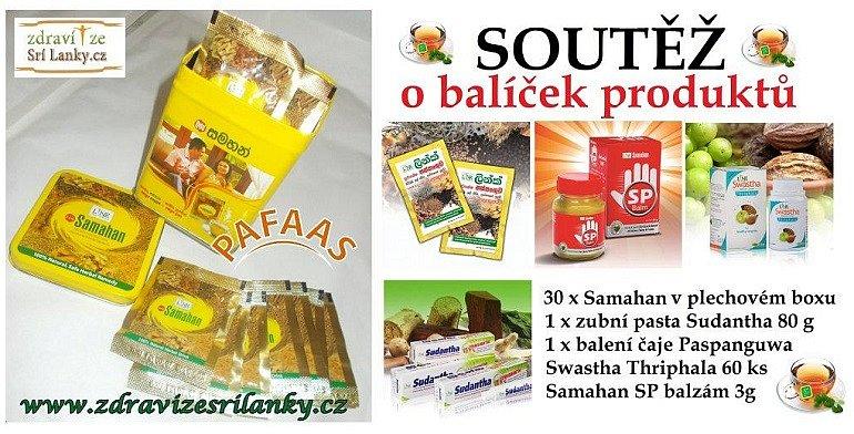 Soutěž o balíček produktů pro zdraví ze Srí Lanky